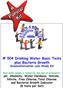 Download # 504 Drinking Water Basics PDF with pH, Alkalinity, Water Hardness, Nitrate, Nitrite, Free Chlorine,Total Chlorine and Bacterial Growth Indicator (8 tests on each water sample)