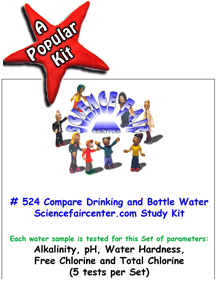 Download # 524 Drinking Water versus Bottled Water Testing PDF with Alkalinity, pH, Water Hardness, Free Chlorine and Total Chlorine (5 tests on each water sample).