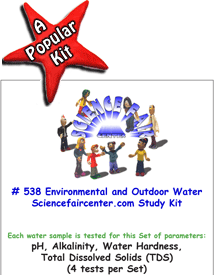 Download # 538 Environmental and Outdoor Water Source PDF with  pH, Alkalinity, Water Hardness, Total Dissolved Solids (TDS), (4 tests on each water sample).