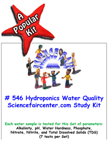 Download # 546 Hydroponics Water Quality Tests PDF with  Alkalinity, pH, Water Hardness, Phosphate, Nitrate, Nitrite, and Total Dissolved Solids (TDS) (7 tests on each water sample).