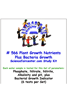 Download # 566 Plant Growth Nutrients Plus Bacteria in Water PDF with Phosphate, Nitrate, Nitrite, Alkalinity, pH Plus Bacterial Growth (6 tests on each water sample).