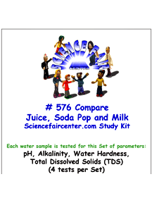 Download # 576 Compare Juice Soda Pop Milk PDF with pH, Alkalinity, Water Hardness, Total Dissolved Solids (TDS) (4 tests on each water sample).