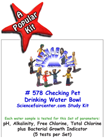 Download # 578 Checking Pet Drinking Water Bowl PDF with pH, Alkalinity, Free Chlorine, Total Chlorine plus Bacterial Growth Indicator (5 tests on each water sample).