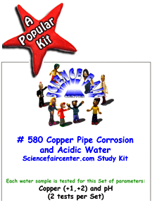 Download # 580 Copper and Acidic Water PDF with Copper and pH (2 tests on each water sample).