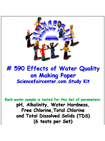 Download # 590 Effects of Water Quality on Making Paper PDF with pH, Alkalinity, Water Hardness, Free Chlorine, Total Chlorine and Total Dissolved Solids (TDS) (6 tests on each water sample).