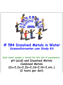 584 Dissolved Metals and pH in Water -Test solubility of metals by acidic water.